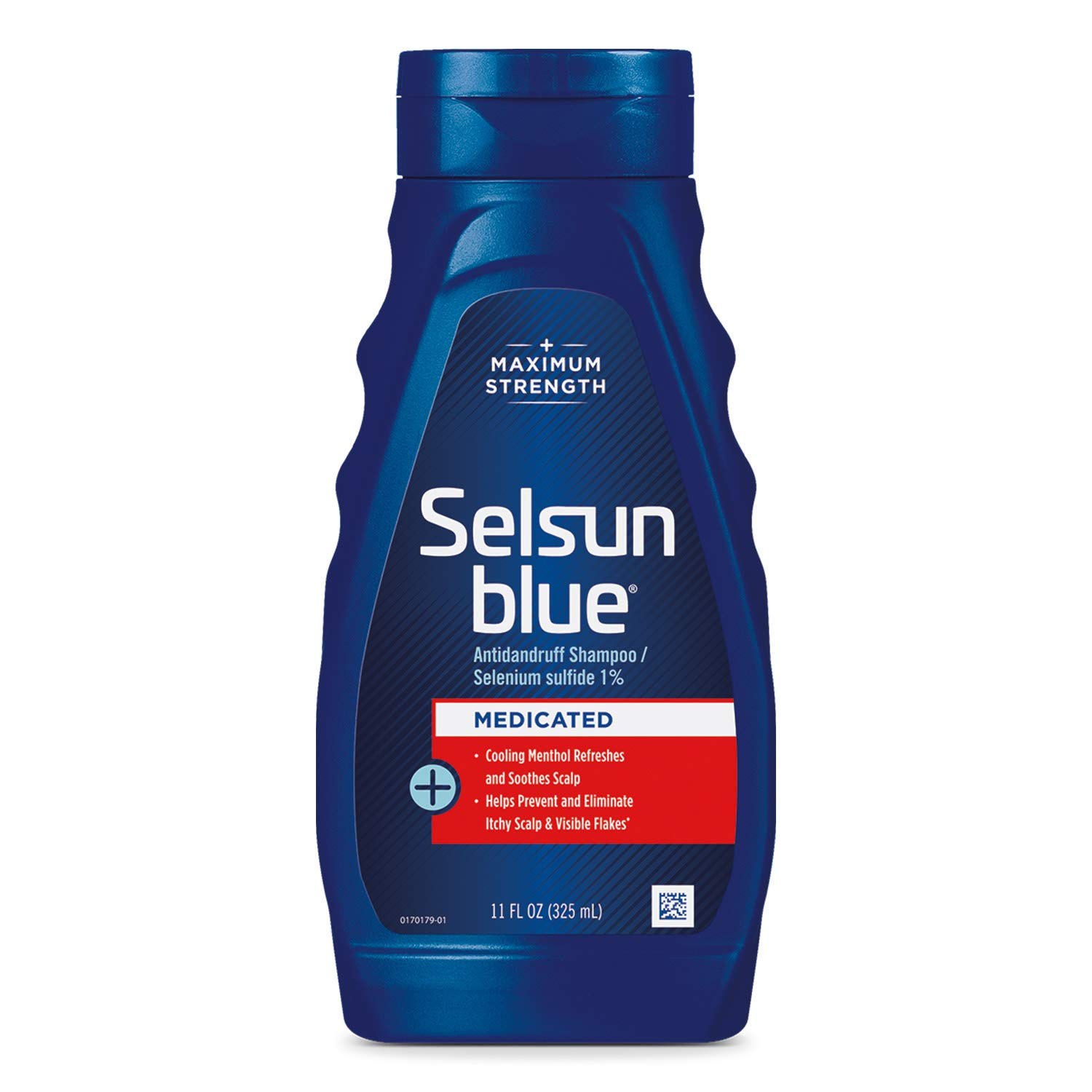 Selsun Blue Medicated Maximum Strength Dandruff Shampoo, 11 Fl Oz, Pack of 1 (60632)