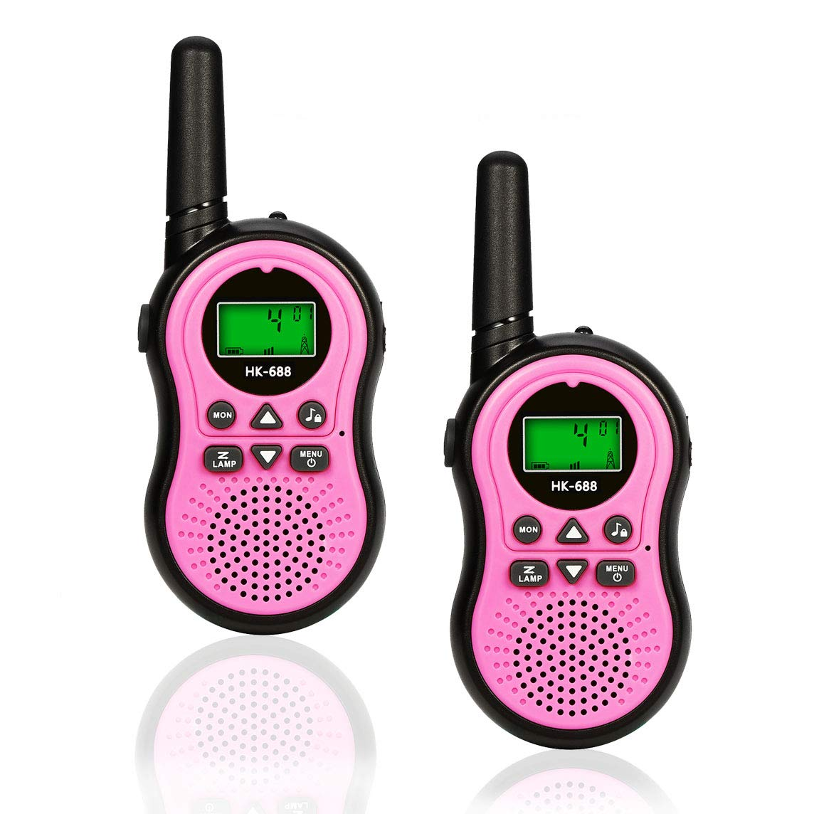 Toys for 3-12 Year Old Boys, BIBOYELF Walkie Talkies for Kids Toys for 3-12 Year Old Girls,5-9 Year Old Girl Birthday Gift,Outside Toys for Kids Outdoor Play,HK-688 1Pair(Pink) by BIBOYELF (Image #1)