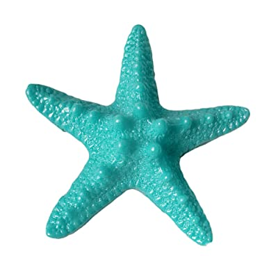 zhenleisier Miniature Garden Decoration,5Pcs Resin Starfishs Ornament Beach Ocean Sea Star Home Wall Party Decor Fairy Tale Garden Accessory Micro Landscape Bonsai Doll House Decor Lake Blue: Kitchen & Dining