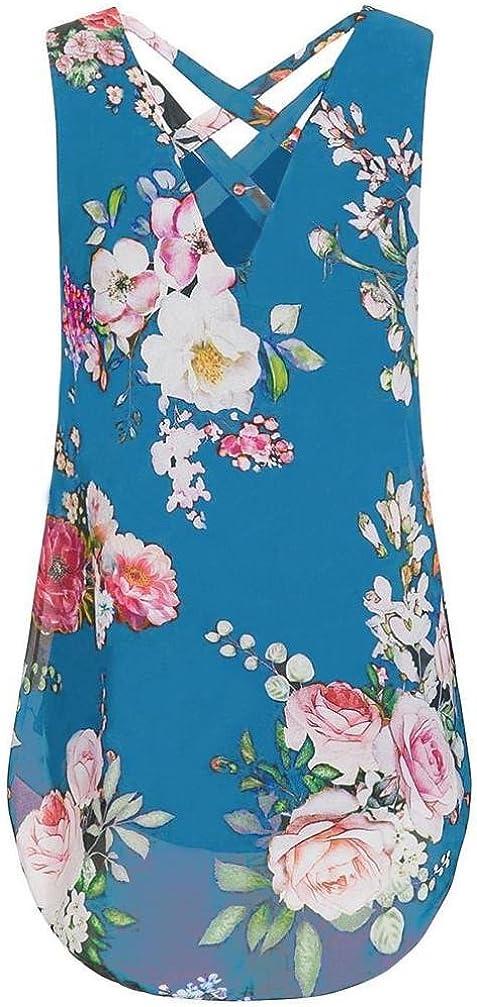 VJGOAL Womens Summer Zipper Tassel Sleeveless Printed Casual Vest Top Blouse Ladies Summer Loose T Shirts Top Tank Tops