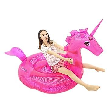 Flotador Unicornio Hinchable Grande, juguete flotante transparente ...