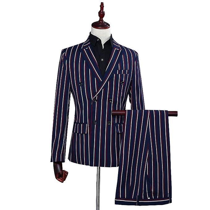 Amazon.com: TBB – Pantalones de hombre de dos piezas, diseño ...