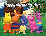 Backyardigans Edible Image Photo Cake Topper Sheet Personalized Custom Customized Birthday Party - 1/4 Sheet - 78691