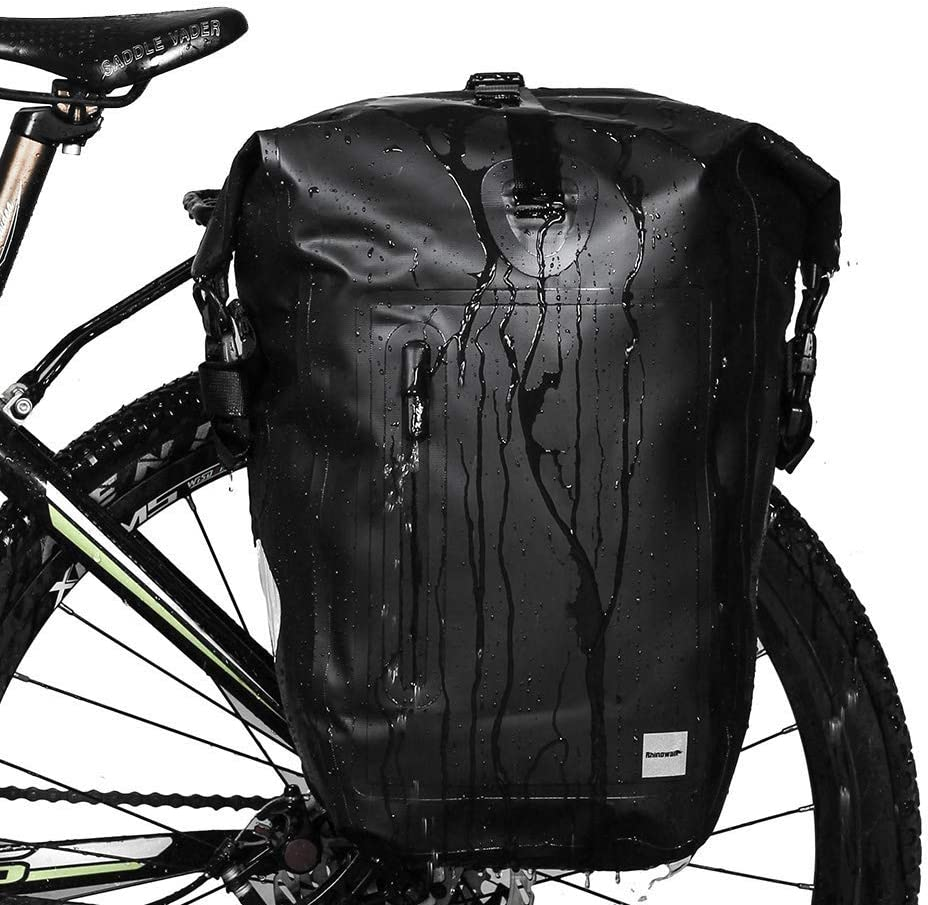 Rhinowalk Bike Pannier Bag 20L Bicycle Rear Rack Bag Laptop Storage Bag Backpack Shoulder Bag with Rain Cover