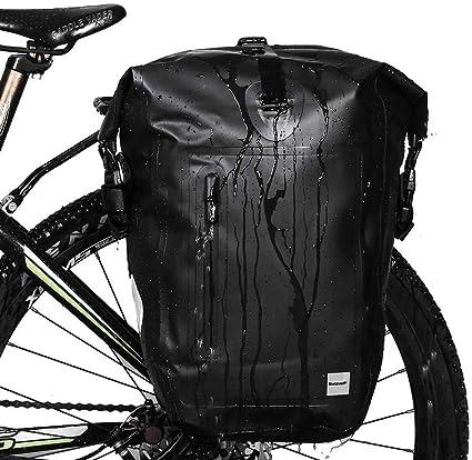 Bicycle Frame Pannier Bike Front Rack Pouch Multi-Pocket Shoulder Purse