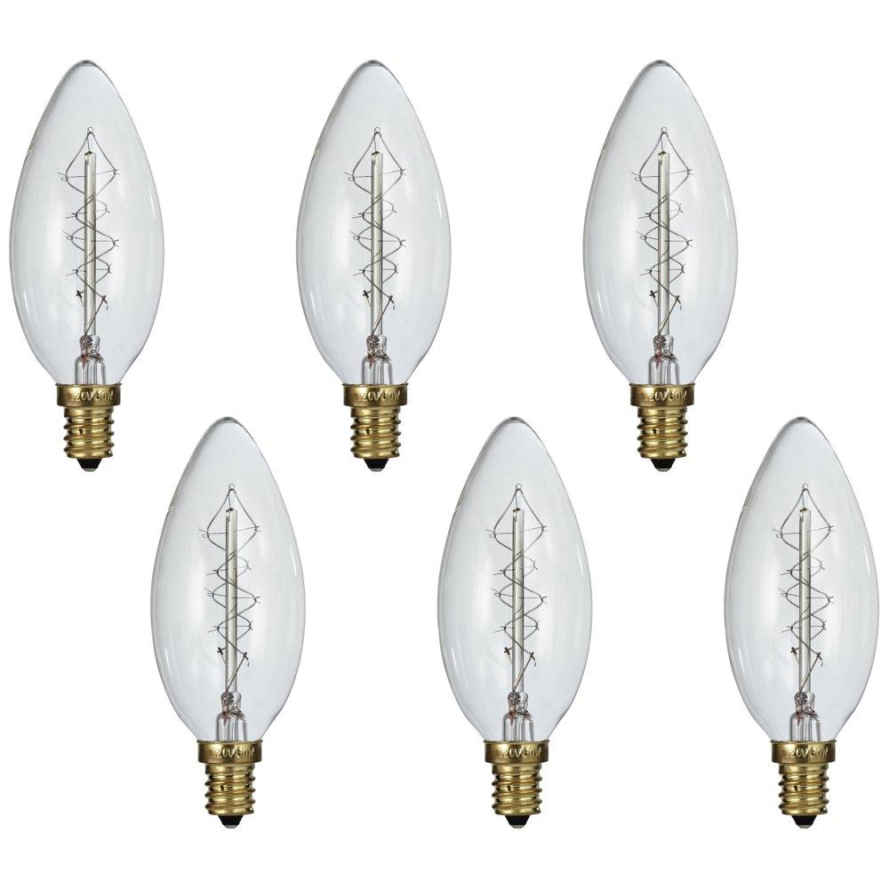 Tesler Clear 60W Candelabra Edison Style Light Bulb 6-Pack - - Amazon.com  sc 1 st  Amazon.com & Tesler Clear 60W Candelabra Edison Style Light Bulb 6-Pack ... azcodes.com