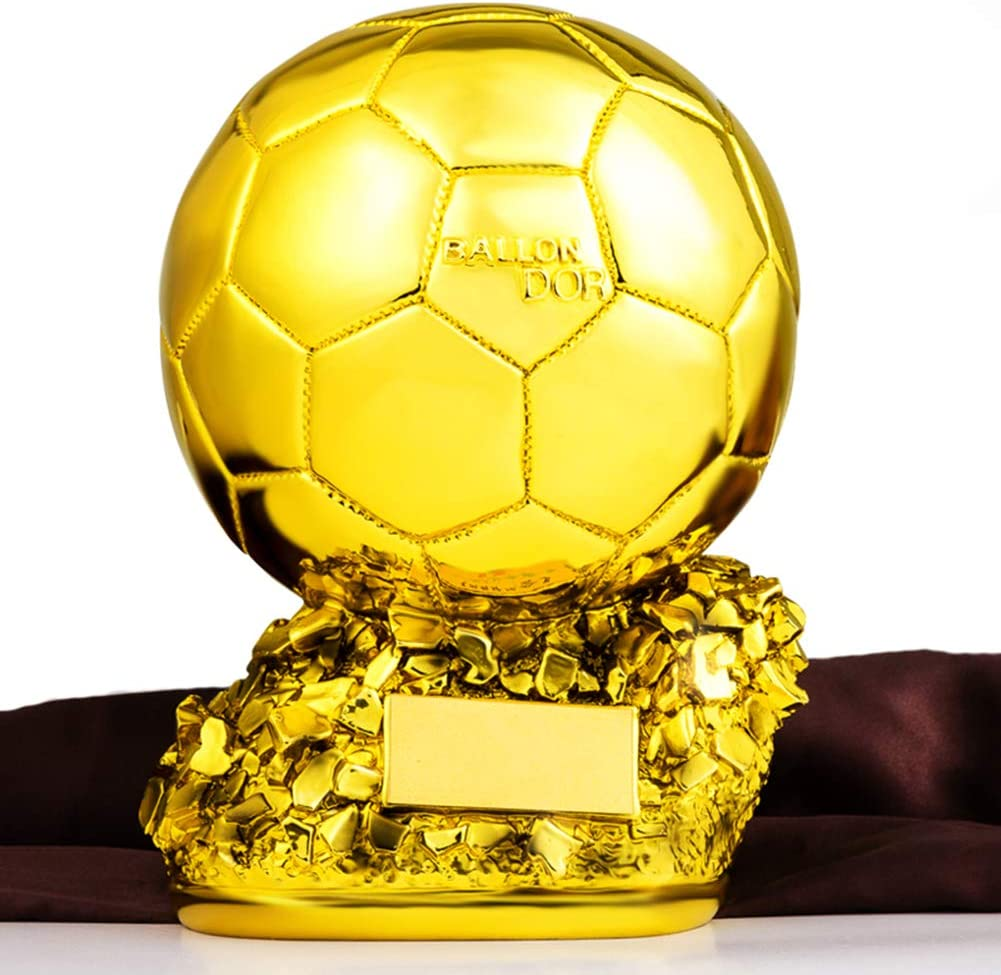 freier Druck Copy Trophy des European Cup Aida Bz Gold Trophy Statuen Fu/ßball-Spielball in Golden Harz