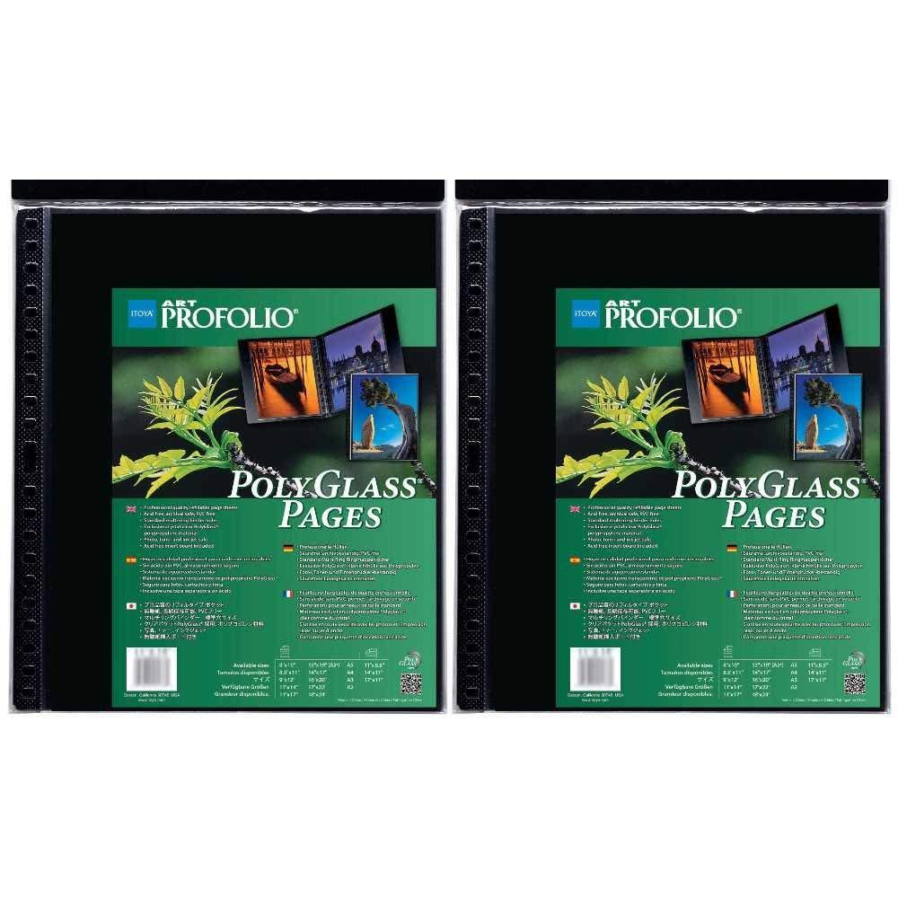 Itoya Art ProFolio Portrait Polyglass Pages (14'' x 17'') (2 Pack) by Itoya of America, Ltd