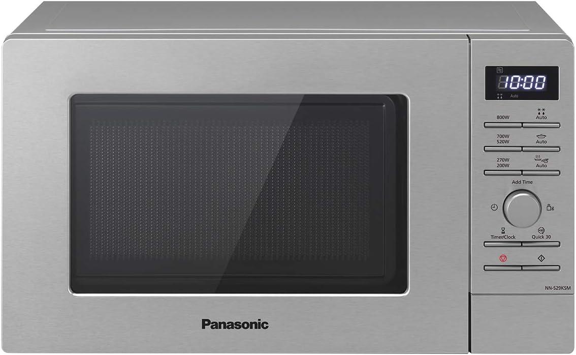 Panasonic NN-S29KSMEPG Solo - Microondas (800 W, 20 litros), acero
