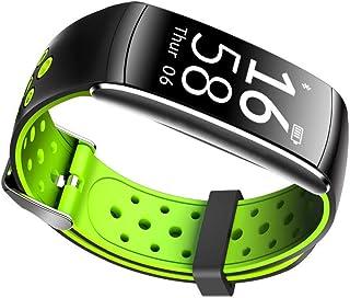 WUDUHUI Bracciale Sportivo Chiamante Allarme frequenza cardiaca di Pressione sanguigna in Silicone Lega 250mm