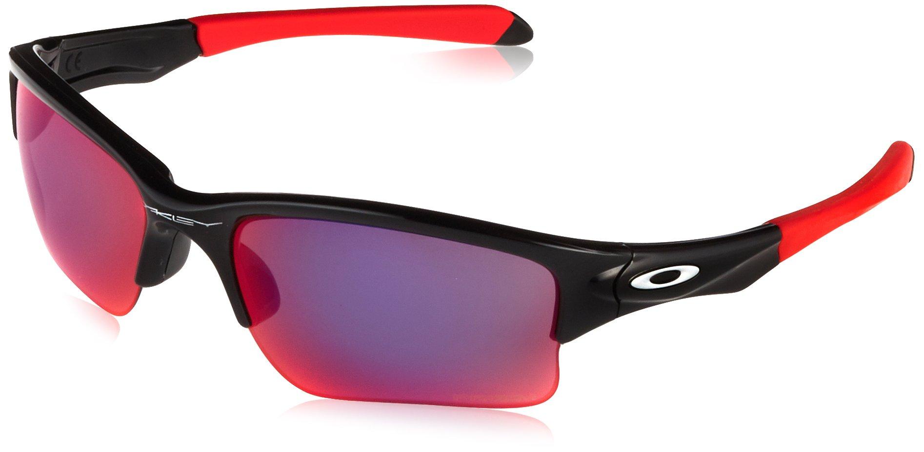 Oakley Men's OO9200 Quarter Jacket Rectangular Sunglasses, Polished Black/Prizm Road, 61 mm by Oakley
