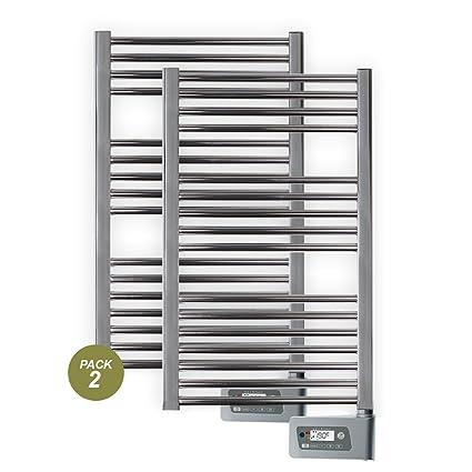 farho - Pack 2 X Toalleros Eléctricos Baño Serie Nova Cromado 400 W y Medidas (