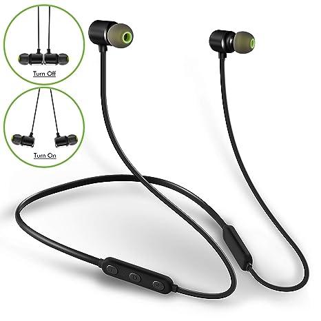 5b80dfeebb7 MINDBEAST Neckband Headphones Wireless Bluetooth Stereo Earphones Deep Bass with  3 CVC6.0 Noise Cancelling