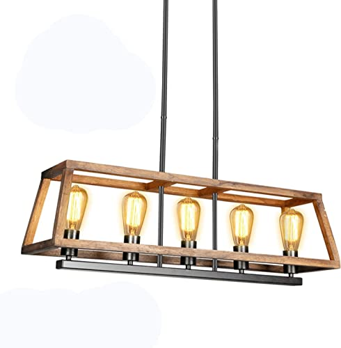 LEDMO 60W Kitchen Island Lighting Farmhouse Chandelier