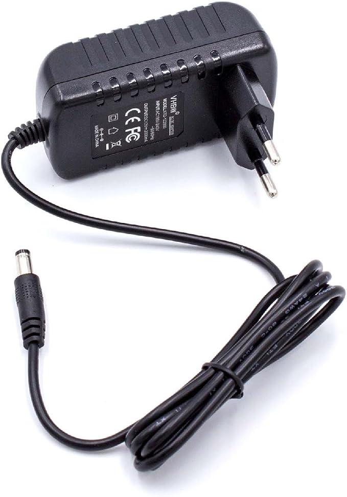 vhbw Fuente de alimentación Cargador para Yamaha Psr-320, Psr-330, Psr-340, Psr-350, Psr-3500, Psr-36, Psr-37, Psr-40, Psr-400 por PA-5, PA-5D, etc.