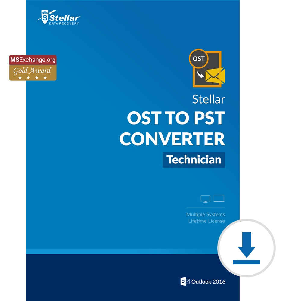 Stellar OST to PST Converter - Technician [Download] by Stellar Data Recovery