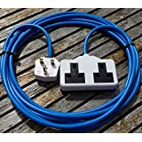 3 METER 2 WAY HEAVY DUTY GARDEN EXTENSION CABLE WHITE CONNECTION by Hardware Warehouse Ltd