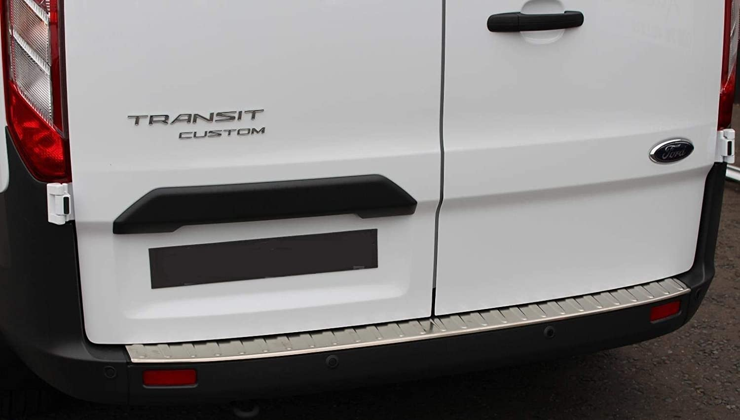 Chromeline TO FIT FORD TOURNEO CUSTOM 2012-2018 CHROME REAR BUMPER PROTECTOR SILL COVER GUARD BRUSHED STAINLESS STEEL