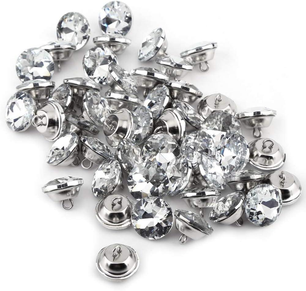 20mm 50pcs boutons de diamant boutons de cristal strass lumineux bricolage d/écoration dartisanat pour v/êtements artisanat t/ête de lit canap/é