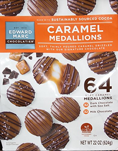 (Edward Marc Caramel Medallions - 64 Ct Per Bag)