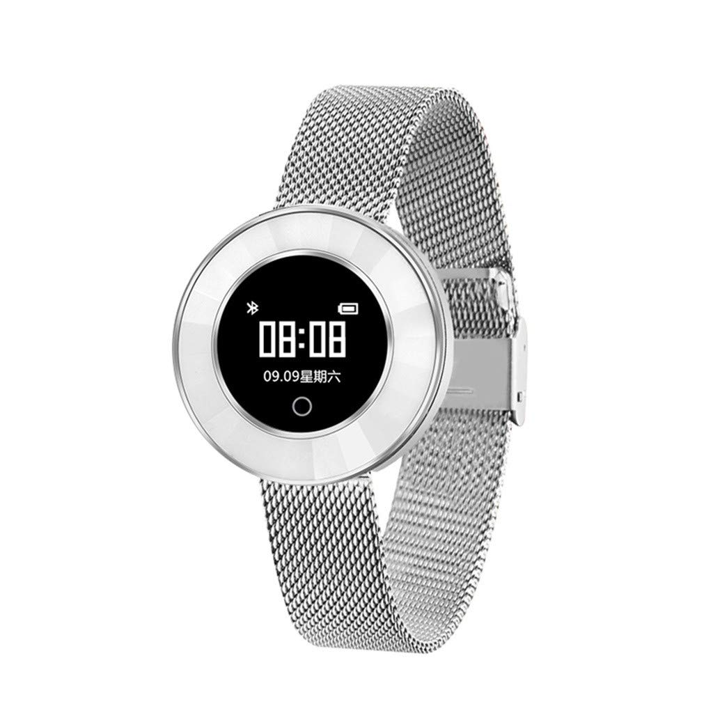 Cywulin Women Girls Sport Smart Watch Fitness Tracker IP68 Waterproof Wristband Activity Tracking Bracelet with Heart Rate Sleep Monitor Pedometer Calories Step Counter for iOS Android Phone (Silver)