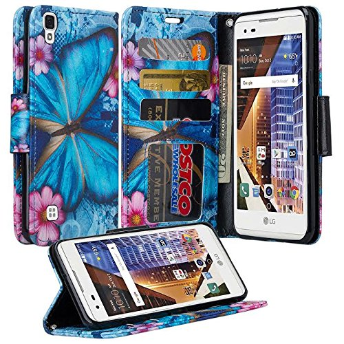 buy popular 8fca4 331ef LG Tribute HD Case, LG Tribute HD Wrist Strap Flip Folio [Kickstand  Feature] Pu Leather Wallet Case with ID&Credit Card Slot For LG Tribute HD  - Blue ...