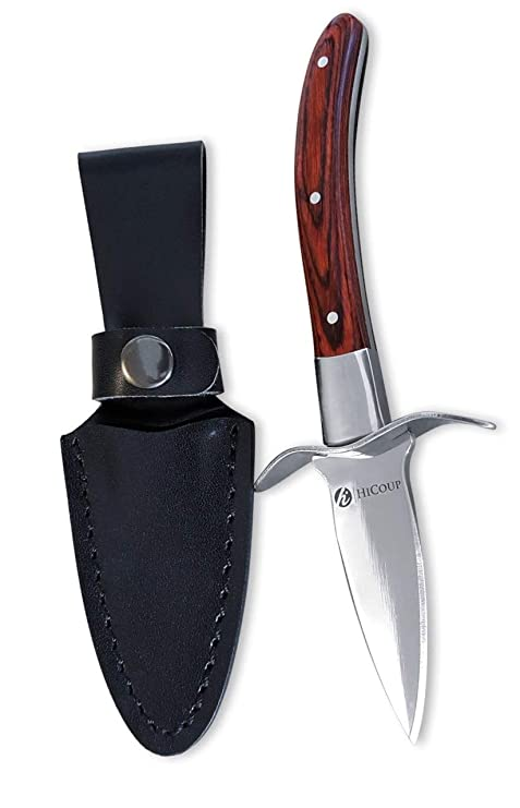 Amazon.com: Cuchillo para ostras por HiCoup, (Pakka Wood ...