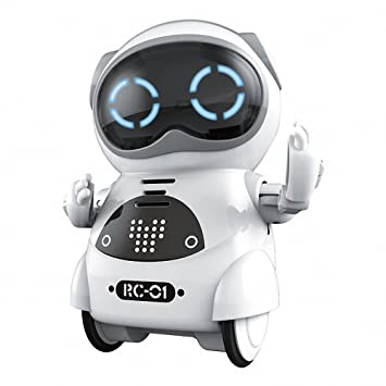 Bix Educational Mini Pocket Robot Kids Interactive Dialogue