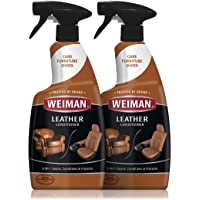 Weiman Leather Cleaner and Conditioner - 22 Ounce (2 Pack) - Non-Toxic Restores Leather Surfaces - Ultra Violet…