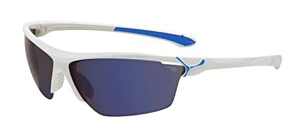 bb78cfdd2fa6b Amazon.com  Cebe Cinetik Wrap Sunglasses CBCINETIK6 SHINY WHITE BLUE ...