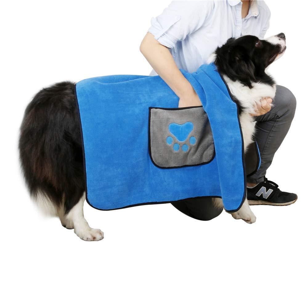 DADYPET Toallas de Baño para Mascotas, Toalla Playa para Perros Gatos Microfibra Súper Suave 100