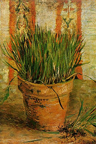 Gogh Vincent van Flowerpot with Chives 100% Hand Painted Oil Paintings Reproductions 12X16 Inch