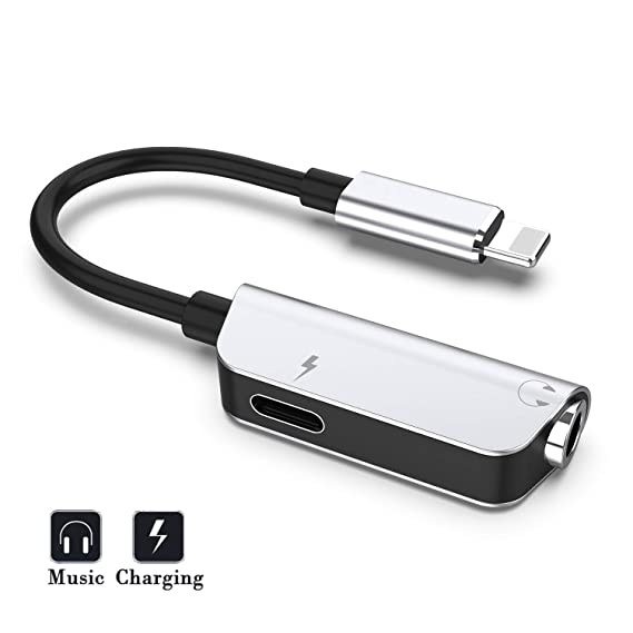 separation shoes 1e4bf c16fc Headphone Adapter Compatible for Headphone Jack Adapter Dongle for iPhone  7/7Plus /8/8Plus/X/XR/XS/XS MAX Audio Cable to 3.5mm Aux Connector Music ...