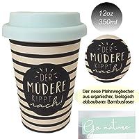 Öko Coffee to Go Kaffe Tee Becher eCoffee Cup Travel Mug Thermo Silikonring BPA frei