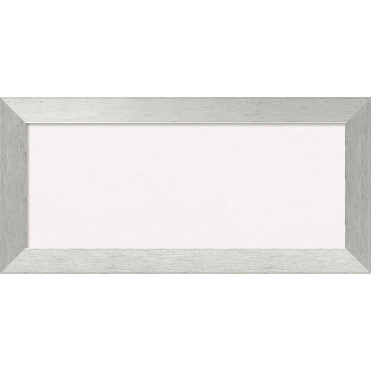 Amanti Art Framed White Cork Board Brushed Sterling Silver: Outer Size 32 x 24, Large DSW3982802