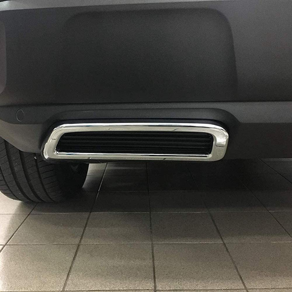 YeBetter for 3008 5008 Allure 2017-2019 Exhaust Pipe Tail Cover ABS Rear Exhaust Muffler End Pipe Cover Decoration Trim