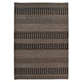 Carpet Art Deco Bay Club Collection Indoor Outdoor Rug, 5'3'' x7'5, Grey