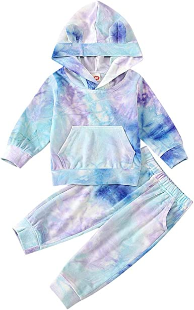 Pants Sweatsuit Casual Outfit Clothing Tianhaik 1-6T Kids Toddler Boy Hooded Hoodie Top