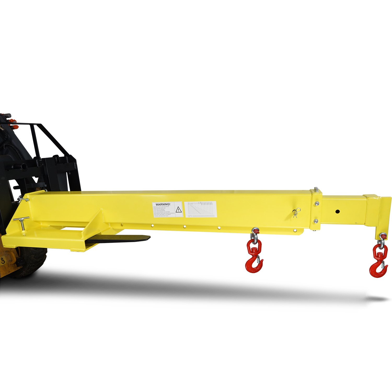 Titan Forklift Mobile Crane Lifting Hoist Truss Jib Boom Hook 6000 lb capacity