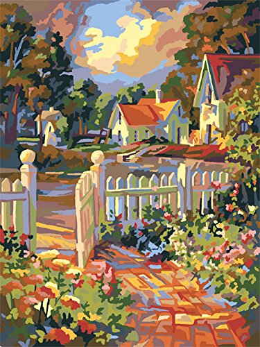 Plaid Creates Paint by Number Kit (16 by 20-Inch), 22034 Beyond the Gate Craft