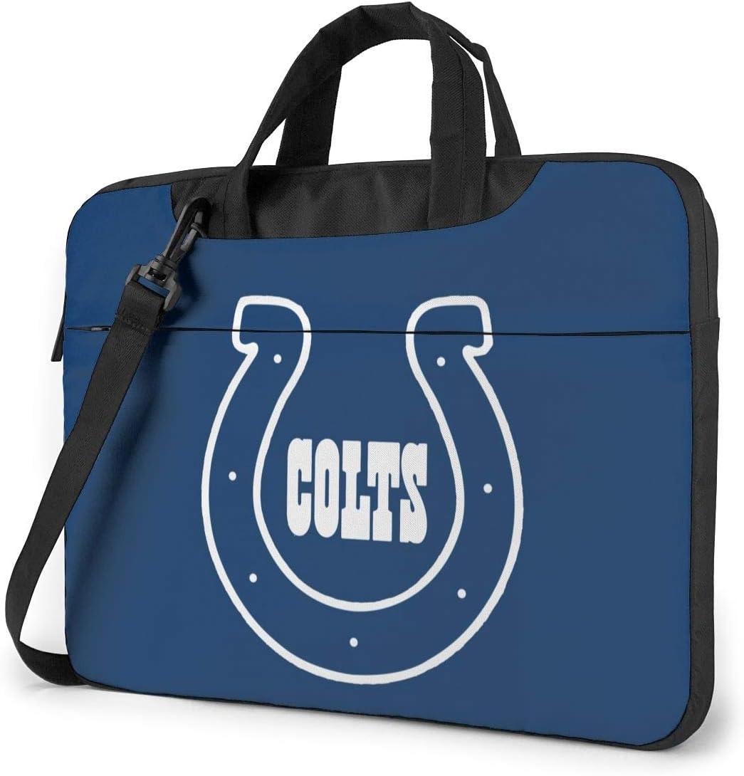 Azhangljqn Laptop Bag Indianapolis Colts Laptop Shoulder Bag, One Shoulder Shockproof Laptop Bag, Handbag, Business Travel Bag