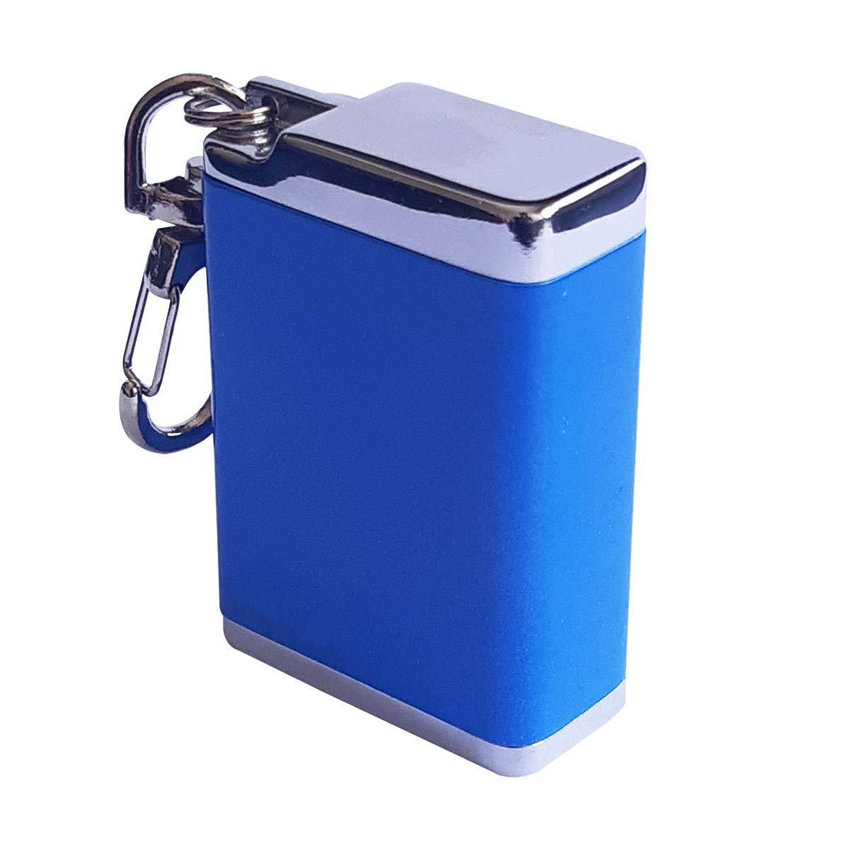 Cendrier de Poche Anti Odeur Aluminium Bleu laqu/é avec Mousqueton