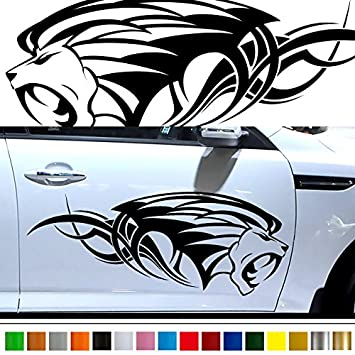 Lion car sticker car vinyl side graphics pre23 car custom stickers decals 【8 colors to