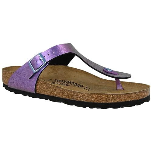 74b39c35db3c Birkenstock Womens Gizeh Graceful GEMM Violet Sandals Regular Fit Size 4.5