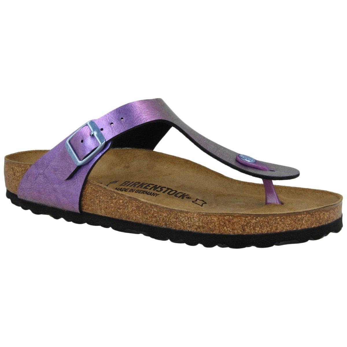 680b35385 Galleon - Birkenstock Unisex Gizeh Birko-Flor Graceful GEMM Violet Sandals  6 W   4 M US