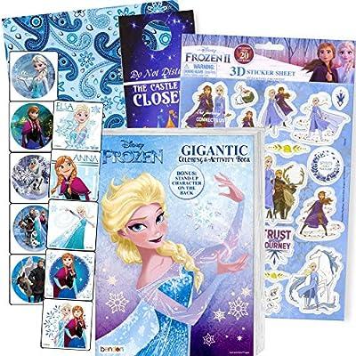 - Amazon.com: Disney Frozen Coloring Book Set With Frozen Stickers - Bundle  Includes Frozen 192 Pg Coloring Book, Frozen Stickers, 3-D Puffy Stickers,  Castle Door Hanger, In Gift Bag: Office Products