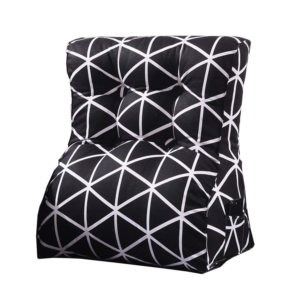 LILISHANGPU Lil Multi-Function Sofa Triangle Cushion, Lathe Head Large Back Bed Cushion/Cotton Canvas Hold Pillow/Removable and Washable (Color : 1, Size : 4555cm)
