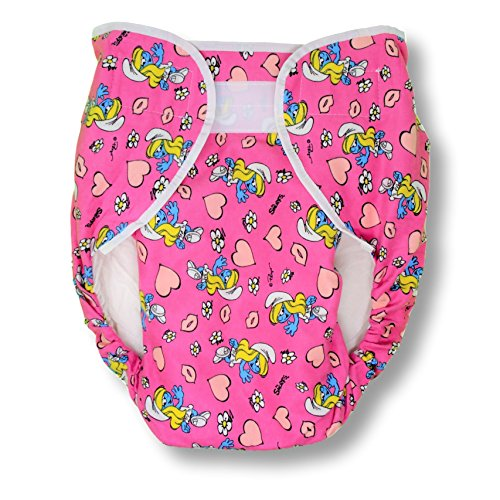 Rearz - Bulky Fitted Nighttime Cloth Diaper (Pink - Cartoons) (Small/Medium) ()