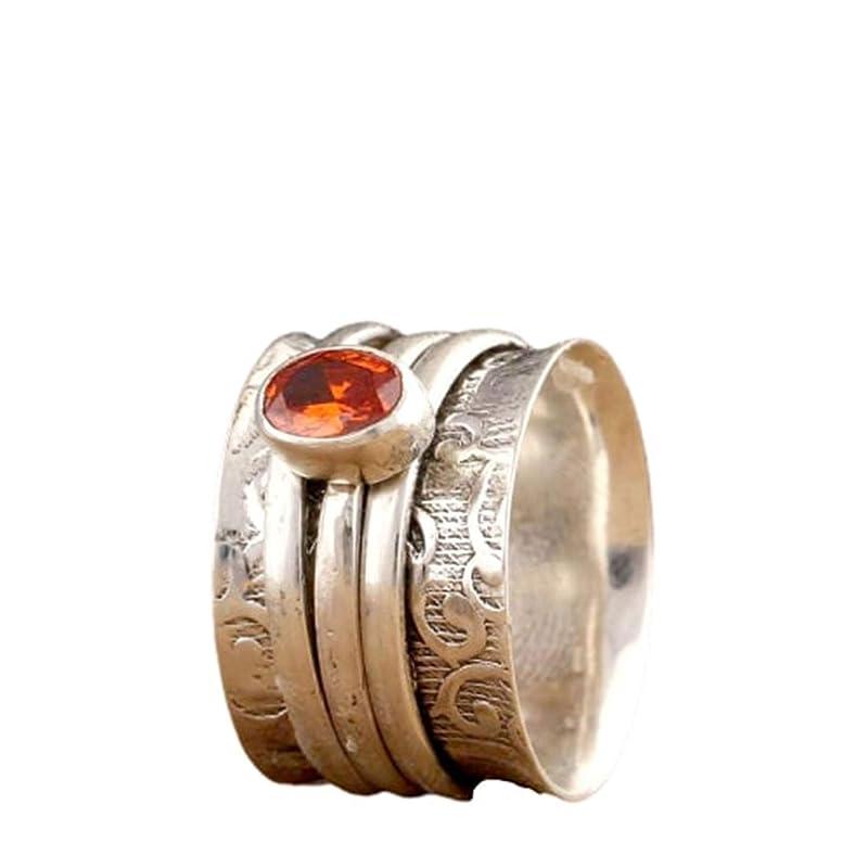 Garnet Spinner Ring,925 Sterling Silver,Handmade Ring,Meditation Ring,Women Ring,Statement Ring,Spinner Ring,Valentine Gift Ring S80
