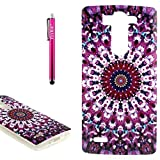 LG G4 Case, Firefish [Shock Absorbent] [Slim Fit] [Anti Slip] Design Clear TPU Gel Silicone Soft Protective Phone Back Case Skin Cover for LG G4 - Purple Kaleidoscope